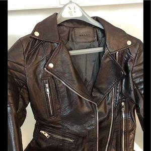 Beautiful Brown Vegan Leather Jacket